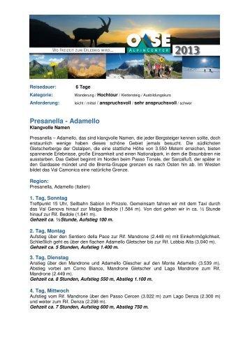 42 Presanella - Adamello - Alpinschule OASE-Alpin