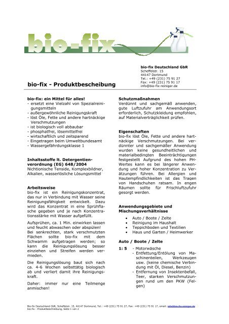 Bio Fix Farbenhaus Metzler Onlineshop