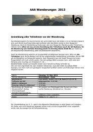 Wanderprogramm - 3A-Adligenswil