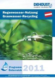 Regenwasser-Nutzung Grauwasser-Recycling