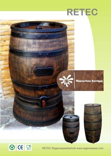 Katalog Regentonne Barrique - RETEC Regenwassertechnik