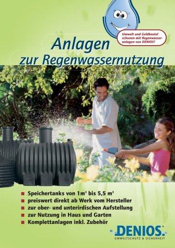 Anlagen zur Regenwassernutzung