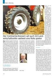 Der Continental-Konzern will auch mit Land ... - Reifenpresse.de