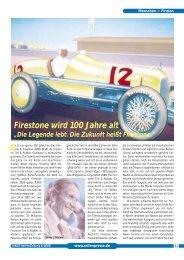 Firestone wird 100 Jahre alt 6/2000 - Reifenpresse.de