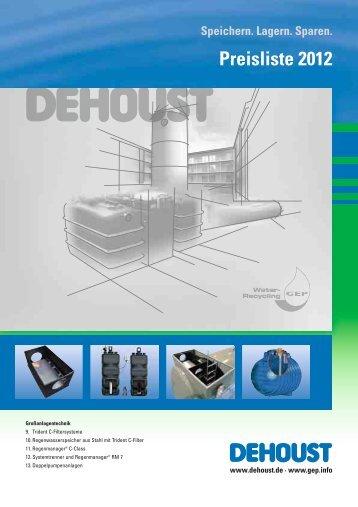 Preisliste 2012 - DEHOUST GmbH