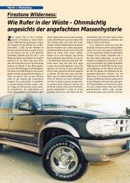 Firestone Wilderness 9/2000 - Reifenpresse.de