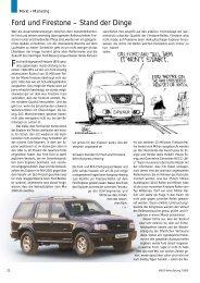 Ford und Firestone - Stand der Dinge 7/2001 - Reifenpresse.de