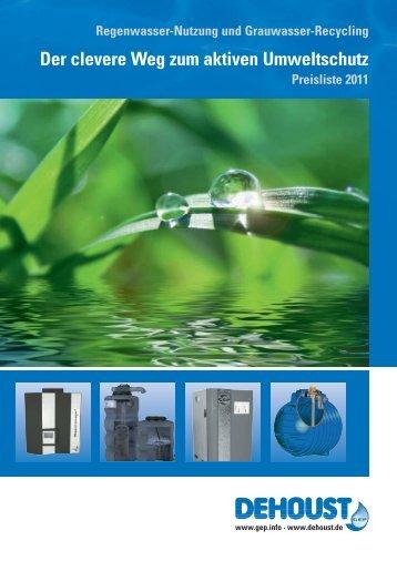 Der clevere Weg zum aktiven Umweltschutz - DEHOUST GmbH