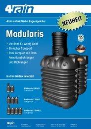 4rain unterirdische Regenspeicher Modularis - 4rain.de