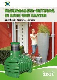 RegenwasseR-nutzung in Haus und gaRten - 1a-Erdtank