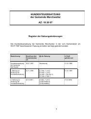 HUNDESTEUERSATZUNG der Gemeinde Merchweiler AZ: 10 20 07