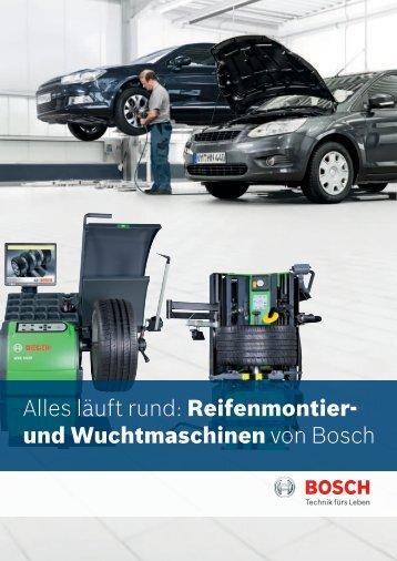 Alles läuft rund: Reifenmontier- und Wuchtmaschinen von Bosch
