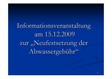 Informationsveranstaltung Erhöhung Abwassergebühr - Gemeinde ...