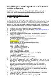 ÖFFENTLICHE AUSSCHREIBUNG - Gemeinde Merchweiler