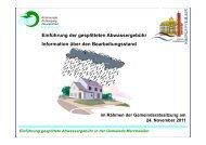 Einführung gesplittete Abwassergebühr in der Gemeinde ...