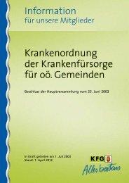 Information Krankenordnung der Krankenfürsorge für oö ... - KFG OÖ