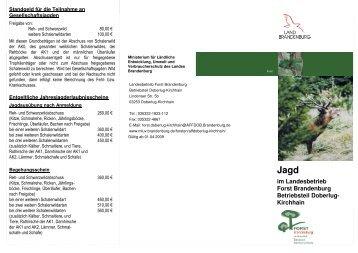 Jagd im Betriebsteil Doberlug-Kirchhain - MUGV - Brandenburg