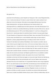 Brief von Minas Mutter an einen Reha-Berater der Agentur für Arbeit ...