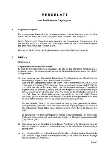 Merkblatt - Erhebungsbogen (1.156 KB) - Gemeinde Merchweiler