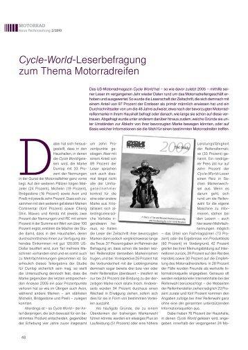 Cycle-World-Leserbefragung zum Thema ... - Reifenpresse.de