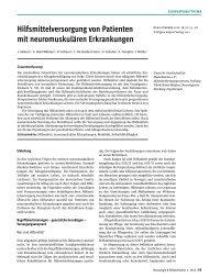 Hilfsmittelversorgung von Patienten mit neuromuskulären ...