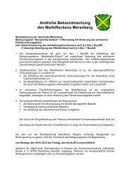 Bekannt. Bebauungsplan Benzstraße - Merenberg