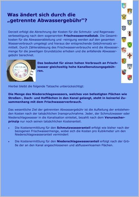 Trennung der Abwassergebühr - Merenberg