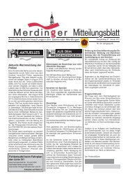 Ausgabe 4 des Gemeindeblatt vom 27.01.11 - Merdingen