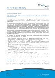 InfoTrust Pressemitteilung - InfoTrust AG