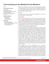 Cloud Computing aus dem Mittelstand für den ... - Merkl IT GmbH