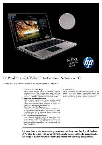 PSG Consumer 2C10 HP Notebook Datasheet