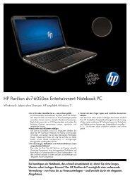 PSG Consumer 1C11 HP Notebook Datasheet - Digitec