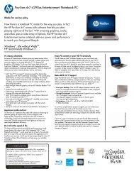 HP Pavilion Data Sheet - Abt