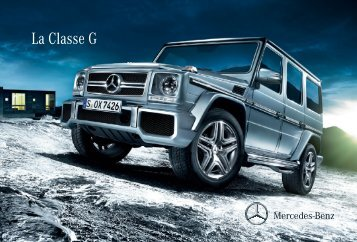 Télécharger la brochure Classe G (PDF) - Mercedes-Benz France