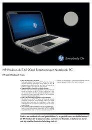 PSG Consumer 2C11 HP Notebook Datasheet