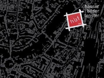 Katalogauszug hbf–Häuser–Bilder–Fenster im ... - Anett Frontzek