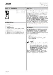 2. Montage 1. Funktion Inhaltsverzeichnis Schaltaktor REG/2x230/6