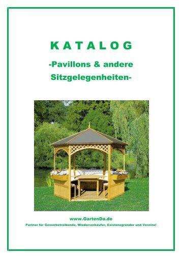 """Katalog """"Pavillons & andere Sitzgelegenheiten"""" - arwid"""