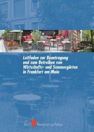 und Sommergärten in Frankfurt am Main