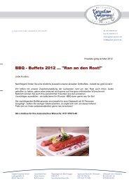 BBQ-Buffet - Geydan-Gnamm