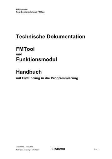Technische Dokumentation FMTool Funktionsmodul Handbuch