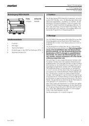 Binäreingang REG-K/8x230 Inhaltsverzeichnis 1. Funktion 2. Montage