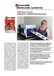 Touch Digitaler Farbetikettendrucker - ICS Identcode Systeme AG