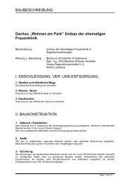 Baubeschreibung - DACHAU