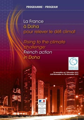 La France à Doha pour relever le défi - Ministère du Développement ...