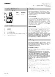 Schaltaktor REG-K/4x230/16 mit Handbetätigung Inhaltsverzeichnis ...