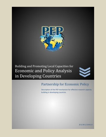 Economic and Policy Analysis in Developing Countries - PEP-NET