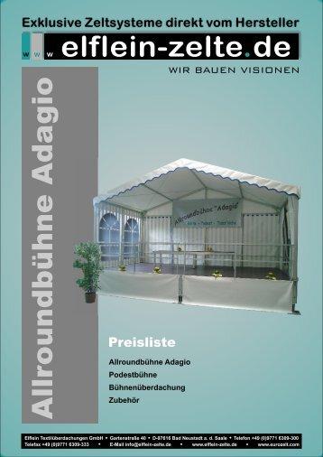 Allroundbühne Adagio - Planen Hirz