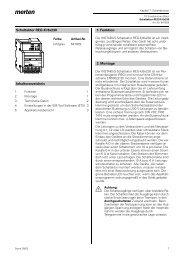 Schaltaktor REG-K/8x230 Inhaltsverzeichnis 1. Funktion 2. Montage