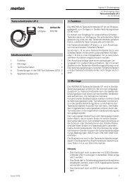 Tasterschnittstelle UP 2 Inhaltsverzeichnis 1. Funktion 2. Montage